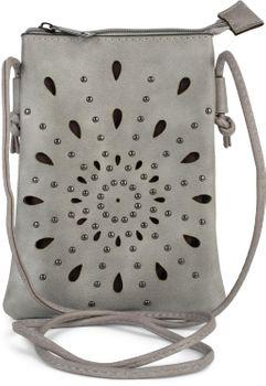 styleBREAKER Damen Mini Bag Umhängetasche mit Cutouts in Ethno Blumen Form und Nieten, Schultertasche, Handtasche, Tasche 02012304 – Bild 1