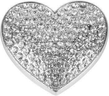 styleBREAKER Damen Magnet Schmuck Brosche in Herz Form mit Strass, für Schals, Tücher oder Ponchos, Anhänger 05050081 – Bild 5