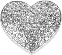styleBREAKER Damen Magnet Schmuck Brosche in Herz Form mit Strass, für Schals, Tücher oder Ponchos, Anhänger 05050081 – Bild 8