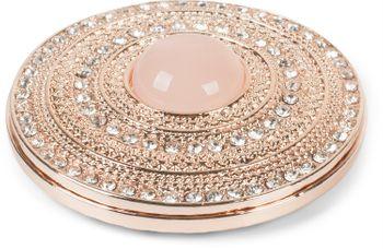 styleBREAKER Damen Magnet Schmuck Brosche rund mit Strass und großer Perle, für Schals, Tücher oder Ponchos, Anhänger 05050082 – Bild 1