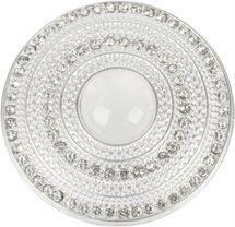 styleBREAKER Damen Magnet Schmuck Brosche rund mit Strass und großer Perle, für Schals, Tücher oder Ponchos, Anhänger 05050082 – Bild 6