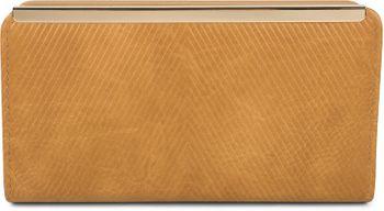 styleBREAKER Damen Geldbörse Uni mit Stäbchen Prägung, Reißverschluss, 2 Druckknöpfe, Portemonnaie 02040131 – Bild 12
