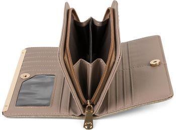 styleBREAKER Damen Geldbörse Uni mit Stäbchen Prägung, Reißverschluss, 2 Druckknöpfe, Portemonnaie 02040131 – Bild 17