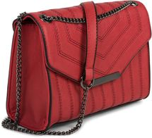 styleBREAKER Damen Umhängetasche mit Ziernähten und Kette, Schultertasche, Handtasche, Tasche 02012308 – Bild 23