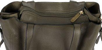 styleBREAKER Damen Tote Bag Handtasche mit seitlichen Reißverschlüssen, Shopper, Schultertasche, Notebook Tasche 02012310 – Bild 15
