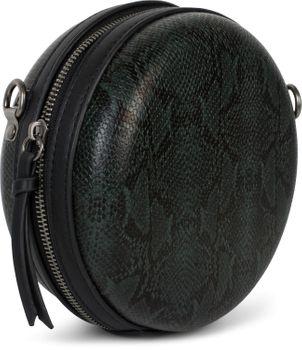 styleBREAKER Damen Runde Umhängetasche in Schlangenleder Optik mit Reißverschluss, Schultertasche, Tasche 02012311 – Bild 14