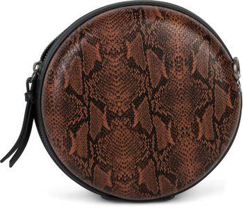 styleBREAKER Damen Runde Umhängetasche in Schlangenleder Optik mit Reißverschluss, Schultertasche, Tasche 02012311 – Bild 18