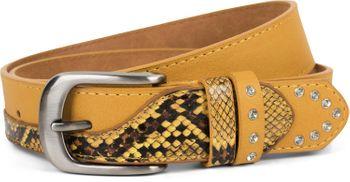styleBREAKER Damen Gürtel mit Strass und Details in Schlangen Optik, kürzbar 03010102 – Bild 5