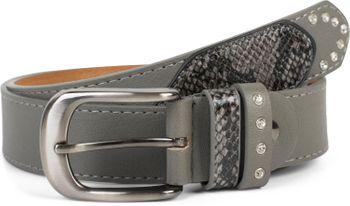 styleBREAKER Damen Gürtel mit Strass und Details in Schlangen Optik, kürzbar 03010102 – Bild 8