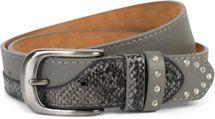 styleBREAKER Damen Gürtel mit Strass und Details in Schlangen Optik, kürzbar 03010102 – Bild 7