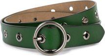 styleBREAKER Damen Leder Gürtel mit Nieten und glänzender Oberfläche, Echtleder, kürzbar 03010103 – Bild 16