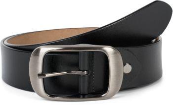 styleBREAKER Unisex Leder Gürtel Unifarben mit glänzender Oberfläche und gebürsteter Schnalle, kürzbar 03010104 – Bild 13