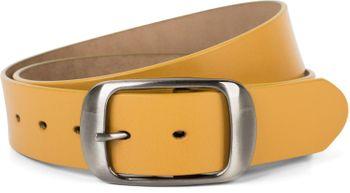 styleBREAKER Unisex Leder Gürtel Unifarben mit glänzender Oberfläche und gebürsteter Schnalle, kürzbar 03010104 – Bild 18
