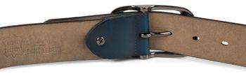 styleBREAKER Unisex Leder Gürtel Unifarben mit glänzender Oberfläche und gebürsteter Schnalle, kürzbar 03010104 – Bild 19