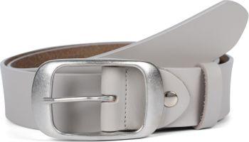 styleBREAKER Unisex Leder Gürtel Unifarben mit glänzender Oberfläche und gebürsteter Schnalle, kürzbar 03010104 – Bild 23