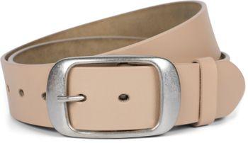 styleBREAKER Unisex Leder Gürtel Unifarben mit glänzender Oberfläche und gebürsteter Schnalle, kürzbar 03010104 – Bild 26
