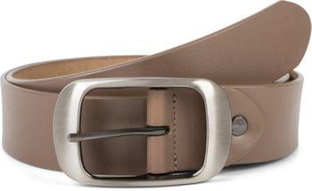 styleBREAKER Unisex Leder Gürtel Unifarben mit glänzender Oberfläche und gebürsteter Schnalle, kürzbar 03010104 – Bild 9