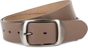 styleBREAKER Unisex Leder Gürtel Unifarben mit glänzender Oberfläche und gebürsteter Schnalle, kürzbar 03010104 – Bild 10