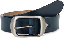 styleBREAKER Unisex Leder Gürtel Unifarben mit glänzender Oberfläche und gebürsteter Schnalle, kürzbar 03010104 – Bild 15
