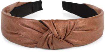 styleBREAKER Damen Haarreif mit Knoten in Kunstleder Optik, Retro Style Haarband, Headband 04026046 – Bild 2