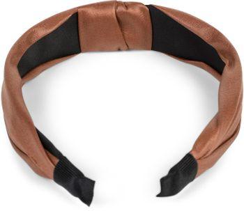 styleBREAKER Damen Haarreif mit Knoten in Kunstleder Optik, Retro Style Haarband, Headband 04026046