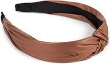 styleBREAKER Damen Haarreif mit Knoten in Kunstleder Optik, Retro Style Haarband, Headband 04026046 – Bild 3