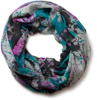 styleBREAKER splat style blur of color patterns loop tube scarf 01018042 – Bild 21