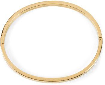 styleBREAKER Damen Edelstahl Armreif mit gehämmerter Oberfläche, Clipverschluss Armband, Schmuck 05040170 – Bild 3