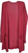 styleBREAKER Damen Feinstrick Cardigan mit aufgesetzten Taschen, Strickjacke ohne Verschluss, Strickmantel, Onesize 08010063 – Bild 41