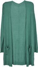 styleBREAKER Damen Feinstrick Cardigan mit aufgesetzten Taschen, Strickjacke ohne Verschluss, Strickmantel, Onesize 08010063 – Bild 17