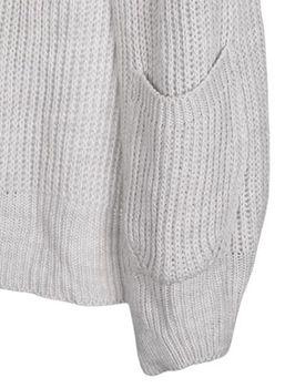 styleBREAKER Damen Grobstrick Cardigan mit aufgesetzten Taschen, Strickjacke ohne Verschluss, Strickmantel, Onesize 08010064 – Bild 24