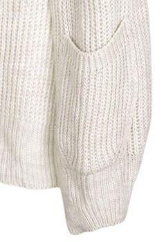 styleBREAKER Damen Grobstrick Cardigan mit aufgesetzten Taschen, Strickjacke ohne Verschluss, Strickmantel, Onesize 08010064 – Bild 8