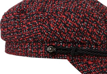 styleBREAKER Damen Bakerboy Schirmmütze aus weichem Bouclé Stoff, Ballonmütze, Newsboy Cap 04023067 – Bild 11