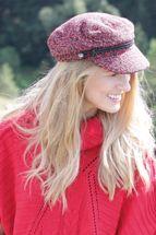 styleBREAKER Damen Bakerboy Schirmmütze aus weichem Bouclé Stoff, Ballonmütze, Newsboy Cap 04023067 – Bild 19