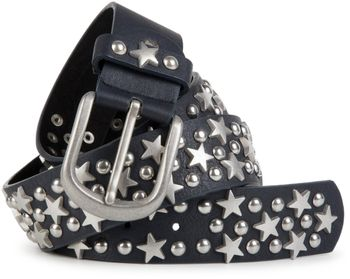 styleBREAKER studded belt with stars and round rivets in vintage style with genuine leather, shortened 03010030 – Bild 9