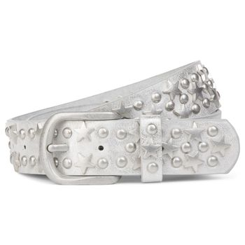 styleBREAKER studded belt with stars and round rivets in vintage style with genuine leather, shortened 03010030 – Bild 12