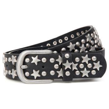 styleBREAKER studded belt with stars and round rivets in vintage style with genuine leather, shortened 03010030 – Bild 10