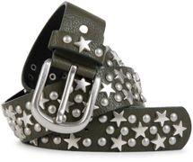 styleBREAKER Nietengürtel mit Sterne und Rundnieten im Vintage Style , kürzbar 03010030 – Bild 2