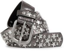 styleBREAKER Nietengürtel mit Sterne und Rundnieten im Vintage Style , kürzbar 03010030 – Bild 7