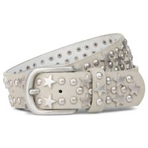styleBREAKER studded belt with stars and round rivets in vintage style with genuine leather, shortened 03010030 – Bild 13
