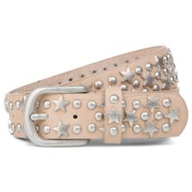 styleBREAKER studded belt with stars and round rivets in vintage style with genuine leather, shortened 03010030 – Bild 15