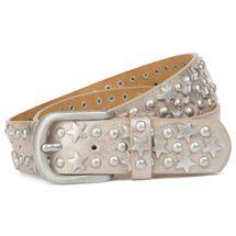 styleBREAKER Nietengürtel mit Sterne und Rundnieten im Vintage Style , kürzbar 03010030 – Bild 14