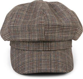 styleBREAKER Damen Bakerboy Schirmmütze mit Glencheck Karo Muster, Ballonmütze, Newsboy Cap 04023068 – Bild 3