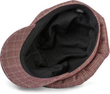 styleBREAKER Damen Bakerboy Schirmmütze mit Glencheck Karo Muster, Ballonmütze, Newsboy Cap 04023068 – Bild 11