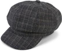 styleBREAKER Damen Bakerboy Schirmmütze mit Glencheck Karo Muster, Ballonmütze, Newsboy Cap 04023068 – Bild 18
