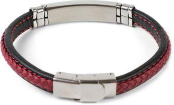 styleBREAKER Unisex Armband mit Flecht und Metallelementen mit Klappverschluss, Armschmuck 05040173 – Bild 3