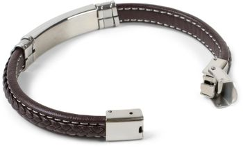 styleBREAKER Unisex Armband mit Flecht und Metallelementen mit Klappverschluss, Armschmuck 05040173 – Bild 19