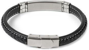 styleBREAKER Armband mit Flecht und Metallelementen mit Klappverschluss, Armschmuck, Unisex 05040173 – Bild 8