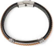 styleBREAKER Unisex Armband mit Flecht und Metallelementen mit Klappverschluss, Armschmuck 05040173 – Bild 15
