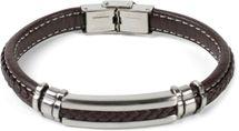styleBREAKER Unisex Armband mit Flecht und Metallelementen mit Klappverschluss, Armschmuck 05040173 – Bild 17